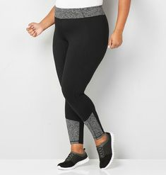9c6a5d5321005e Find more trendy and comfortable active styles in plus sizes like the  Spacedye Trim Active Legging