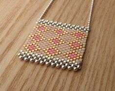 NATASHA R : Perse / Sautoir Argent 925 - Pink