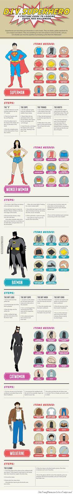 DIY Superhero! Happy Halloween!