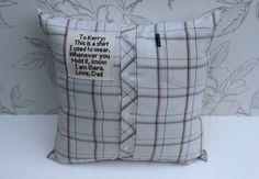 Keepsake Pillow Men's Shirt Keepsake by LookingGlassDesigns1