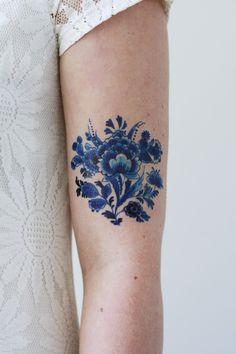 Delft Blue tattoo - Tattoorary