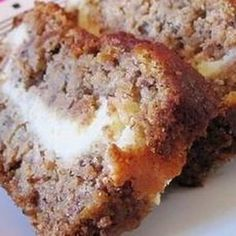 Banana Bread, Cream Cheese Filled*****made this today 9/11/14 - ABSOLUTELY AMAZING!!! I omitted the nuts because I'm sending one loaf up to school for the teachers - substituted mini choc chips....NOM!