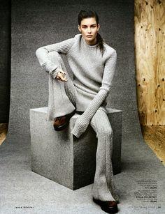 Ophelie Guillermand - Vogue Russia - September 2014 Photography: Jason Kibbler Stylist: Olga Dunina