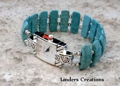 Stretch Beaded Watch Band by LindersCreations on Etsy, $28.00