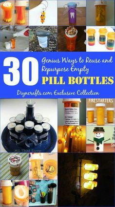 :-) upcycle pill bottles :-)