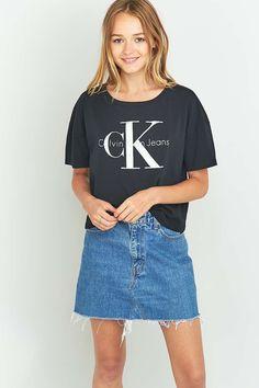 Calvin Klein - T-shirt court à logo noir