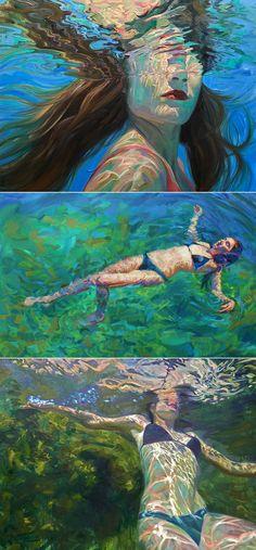Isabel Emrich Painting - Art World Underwater Drawing, Wolf Painting, Painting Art, A Level Art, Ap Art, Beautiful Artwork, Art Studios, Art Inspo, Art Reference