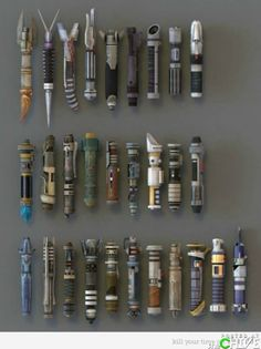 Wall of lightsaber handles? Yes.