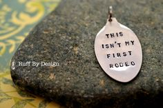 Hand stamped recycled spoon pendant/key tag. Ruff by Design, Kelly Ruff, Kitimat BC
