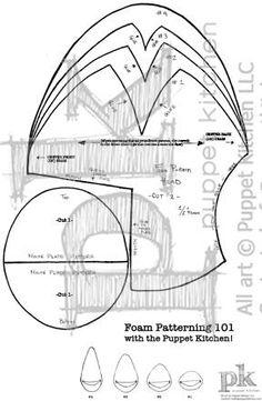 Foam puppet patterning tutorial