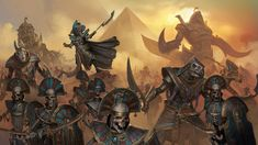 Recently, Rise of the Tomb Kings was announced as a Campaign Pack DLC for Total War: WARHAMMER II. The DLC will introduce a brand new race: the aforementioned Tomb Kings. Fantasy, Warhammer, Character Art, Rise Of The Tomb, Fantasy Battle, Egyptian, Tomb Kings, Warhammer Fantasy Battle, Total War