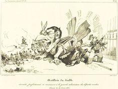 illustration satire past present