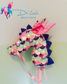Handmade Hobby Dragon Custom Stick Horse by DeLishBoutiqueAust                                                                                                                                                                                 More