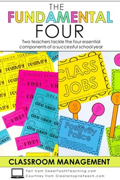 Class Jobs - Classroom Management is one of the biggest components of a successful school year. Two teachers tackle the four components of a successful year! Classroom Routines, Classroom Management Strategies, Behavior Management, Class Management, First Grade Teachers, Elementary Teacher, Elementary Schools, Upper Elementary, Student Behavior