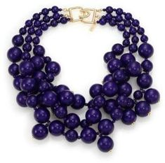 Kenneth Jay Lane Beaded Statement Necklace