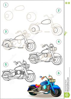 how to draw a pro scooter step by step