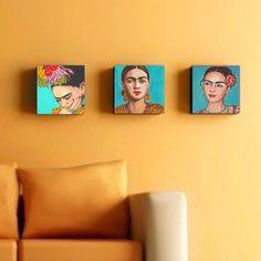 40 % Off Frida Kahlo Print Set Canvas Wrap Mexican Folk Art Wall Corporate Art Grouping Mexican Home Decor, Giclee Frida Poster Painting Diego Rivera, Mexican Artists, Mexican Folk Art, Haring Art, Frida Art, Mexican Home Decor, Art Populaire, Karen, Canvas Art Prints