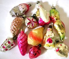 Vintage Christmas ornaments 1970s from Russia