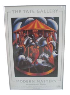 """1985 Tate Gallery """"Modern Masters"""" Exhibition Poster on Chairish.com"""