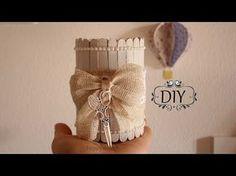 Tutorial: Barattolo in Legno Shabby Chic |Riciclo Creativo - collaborazione tesa - YouTube