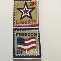 Fourth of July,Liberty Dish Towel,Freedom,4th of July,Stamps Towel,Stars Kitchen Towel,Patriotic Kitchen Towel,July 4th,Red White Blue,Gift by thestuffedcat on Etsy