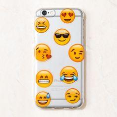 Clear Multicolor Emoji Emoji Cute Girly iPhone 6S/ 6 case