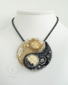 A Yin Yang Symbol in beads. How cool is that?