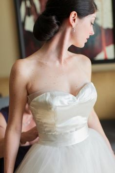Lovely low chignon (Photo by Nancy Aidée Photography)