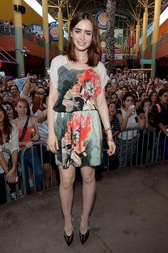 Las mejor vestidas de la semana - Lily Collins - Sachin + Babi