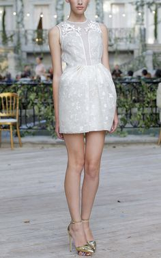 Sleeveless Floral Embroidered Dress by DELPOZO for Preorder on Moda Operandi
