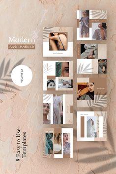 Modern Kit (Vol. Social Media Icons, Social Media Design, Social Media Graphics, Web Banner Design, Media Kit Template, Social Media Template, Kit Media, Best Instagram Feeds, Web Design Software