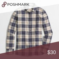 NWT J crew Plaid Popover New with tags if interested make an offer! J. Crew Factory Tops Blouses