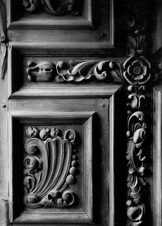 Door Engraving, Mission San Jose, San Antonio, Texas by Andrew Hefter