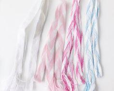 Folklore Costume, Pink Belt Gift for Teacher, Holiday gift, Hand Weaving Belt, Boho Wedding Sash, White long Headband, Skinny long scarf by blingscarves. Explore more products on http://blingscarves.etsy.com