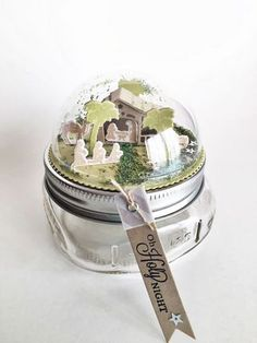 Nativity Scene Jar Topper by Heather Nichols for Papertrey Ink (September 2015)