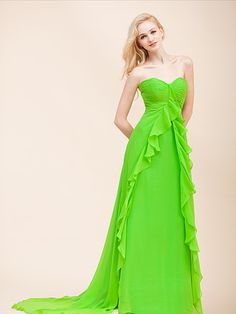 lime green bridesmaid dress