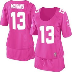 Women s Nike Miami Dolphins  13 Dan Marino Elite Pink Breast Cancer  Awareness Jersey  129.99 Nfl 9ca7123dc