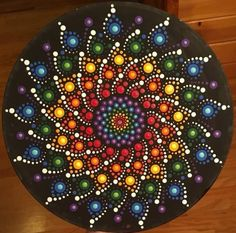This dot mandala is one of my favorites crafting with debbie ideas камни. Mandala Art Lesson, Mandala Artwork, Mandala Canvas, Mandala Dots, Mandala Painting, Mandala Pattern, Mandala Design, Stone Art Painting, Dot Art Painting