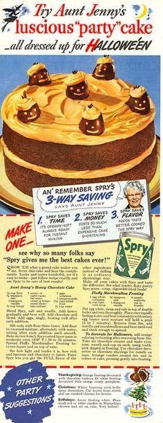 Vintage Halloween party cake 1942-(via File Photo)- on Flickr.