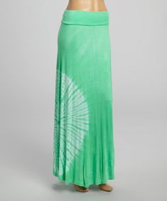 Another great find on #zulily! Jade Circle Tie-Dye Maxi Skirt by Hadari #zulilyfinds
