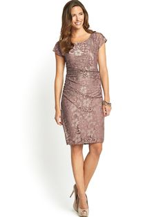Ruched side lace dress http www very co uk savoir ruched side lace