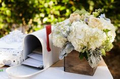 Here's an innovative idea that was used at a rustic wedding, recently. The well-wishes for the newlyweds were written on cards by the guests and put into a mailbox that was part of the reception's decor. As long as you have imagination, there is no limit to the wedding ideas you can come up with.