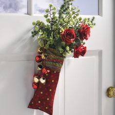 #12Pins project: Add some holiday cheer to your door :)