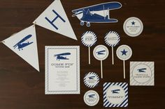 Vintage Airplane Birthday Party for Pottery Barn Kids: FREE printables!  {TomKat Studio}