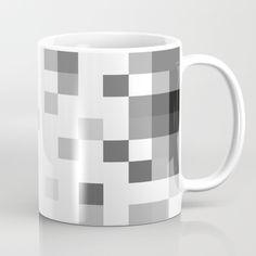 Gray Scale In Pixels Mug by ARTbyJWP in Society6 #gray #mug #mugs #coffeemug #artbyjwp #society6