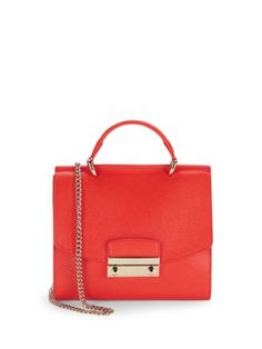 Furla. - Julia Medium Leather Satchel Bag, Petalo Compare to ...