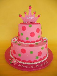 Pink and Green Princess Baby Shower LOVE IT!!!!!!!!!!!!!. For more baby shower ideas visit www.getthepartystarted.etsy.com