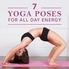 7 Yoga Poses for All Day Energy! #yogaposes #alldayenergy