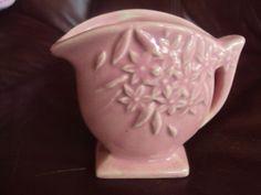 Vintage Nelson McCoy Miniature Pink Flower Holder Pottery Pitcher Vase | eBay