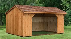 The Board & Batten Run In Shed is the most rustic of all our Horse Barn finishes. Is it the perfect fit for your property? NorthCountrySheds.com